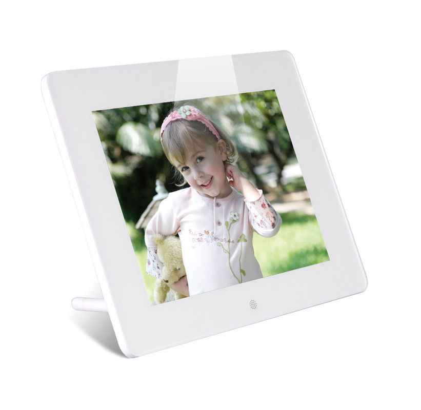 Custom White 8 Inch HDMI LCD Digital Photo Frame With Calendar Auto On/Off