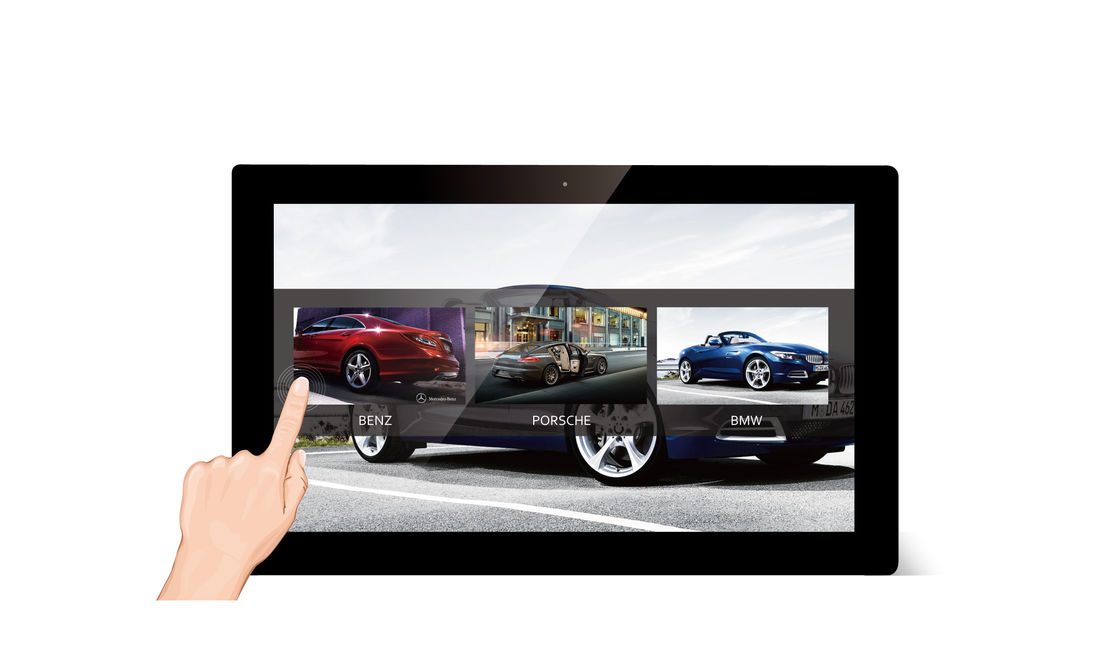 Android 21.5 Inch Touch Screen WIFI Digital Photo Frame with 500:1 Contrast Ratio